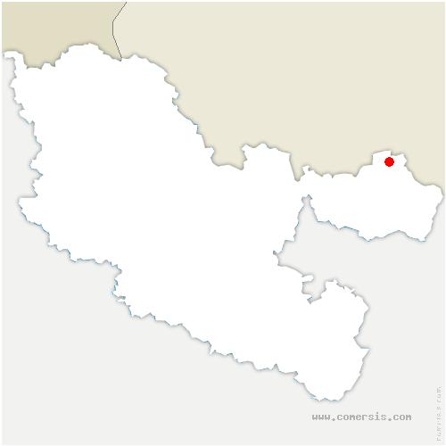 carte de localisation de Walschbronn