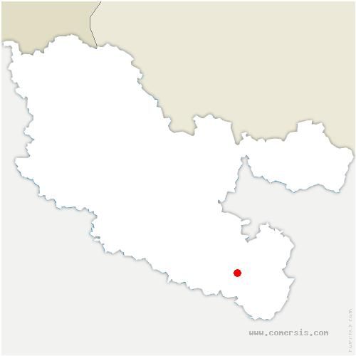 carte de localisation de Xouaxange