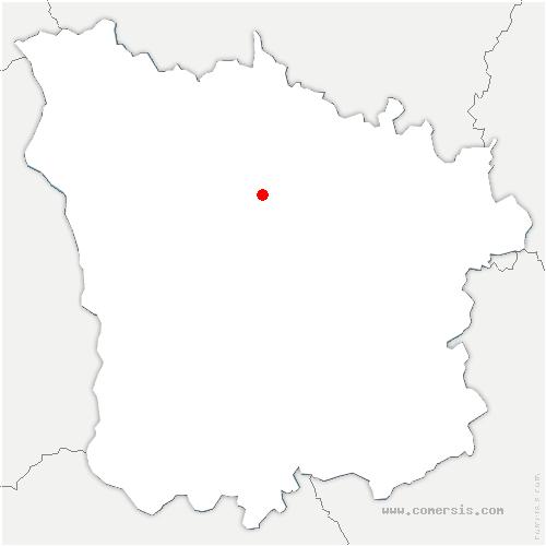 carte de localisation de Beaulieu