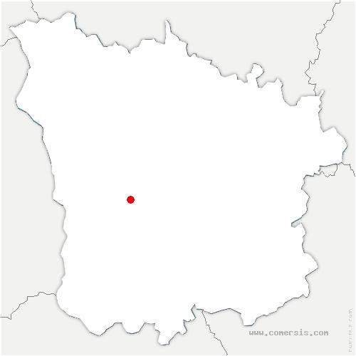 carte de localisation de Vaux d'Amognes