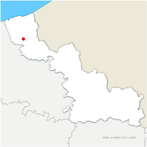 carte de localisation de Arnèke