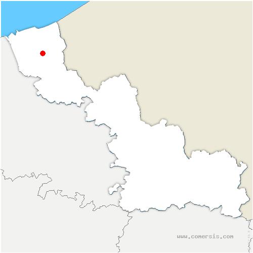 carte de localisation de Bissezeele