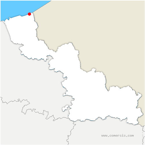 carte de localisation de Bray-Dunes