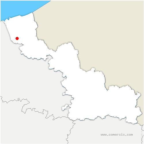 carte de localisation de Broxeele