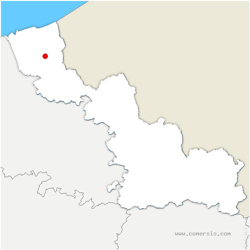 carte de localisation de Esquelbecq