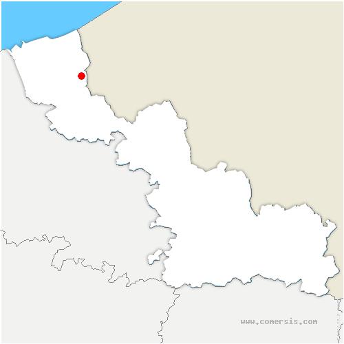 carte de localisation de Herzeele
