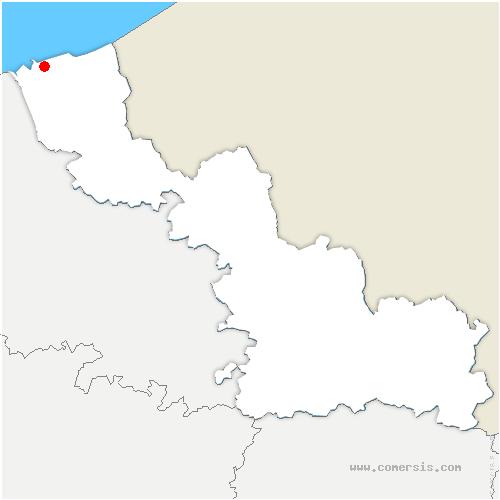 carte de localisation de Loon-Plage