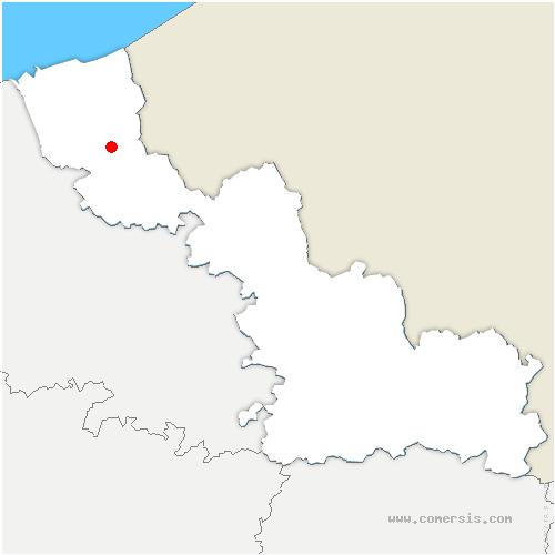 carte de localisation de Oudezeele