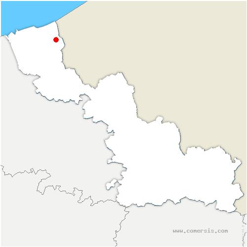 carte de localisation de Warhem
