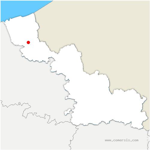 carte de localisation de Wemaers-Cappel