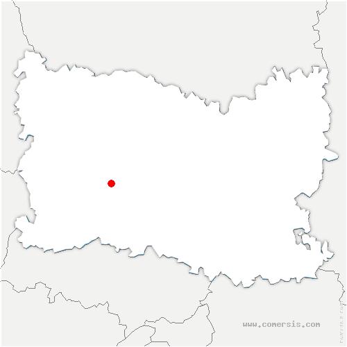 carte de localisation de Abbecourt