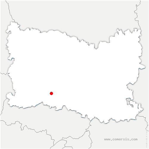 carte de localisation de Andeville