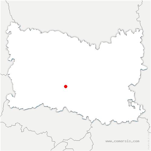 carte de localisation de Angy