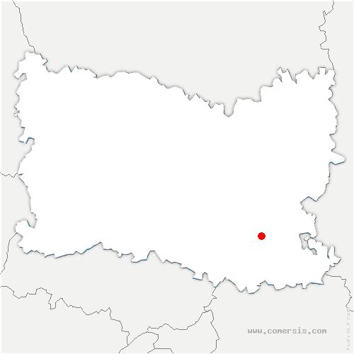 carte de localisation de Auger-Saint-Vincent