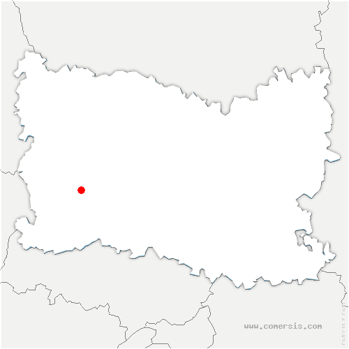 carte de localisation de Auneuil