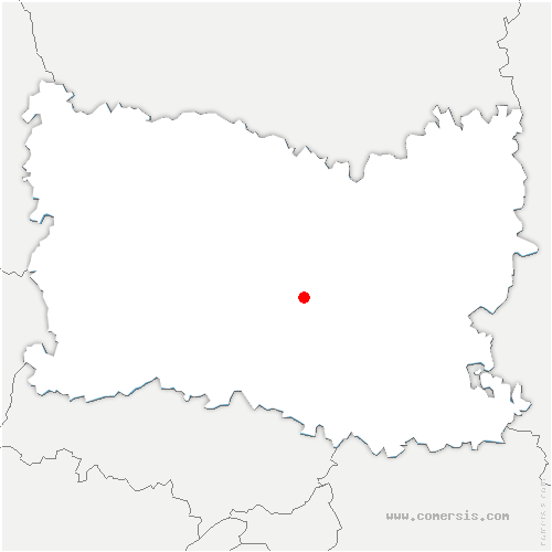 carte de localisation de Bailleval