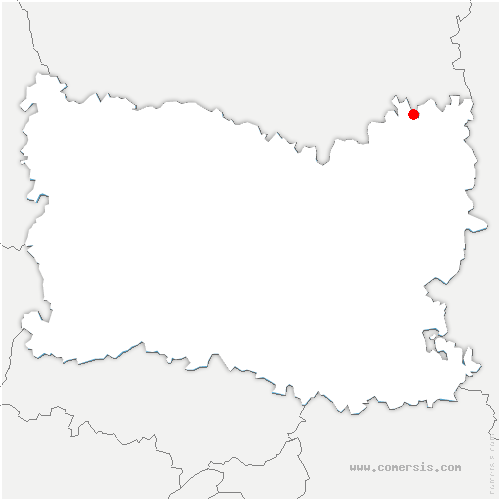 carte de localisation de Beaulieu-les-Fontaines