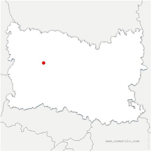 carte de localisation de Beauvais