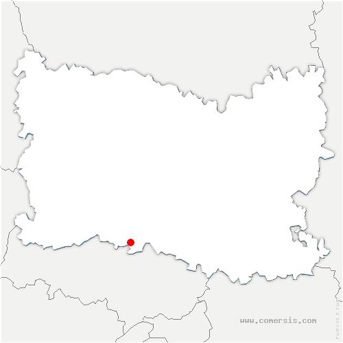 carte de localisation de Belle-Église