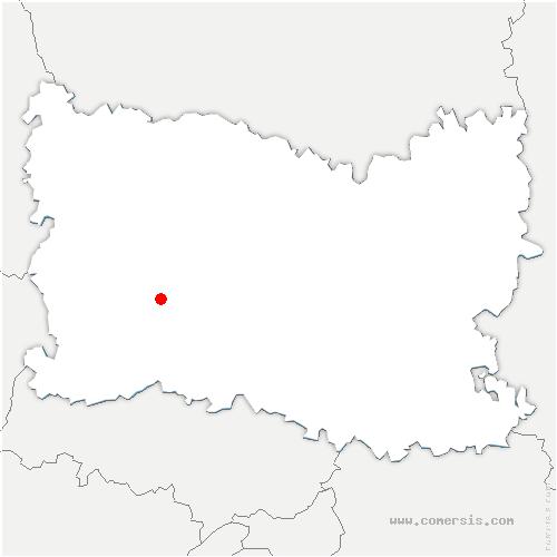 carte de localisation de Berneuil-en-Bray