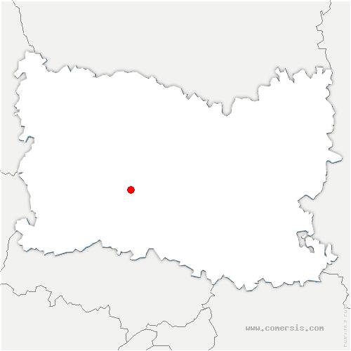 carte de localisation de Berthecourt