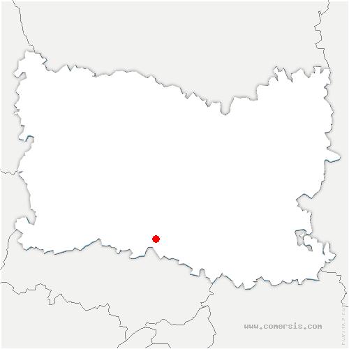 carte de localisation de Blaincourt-lès-Précy