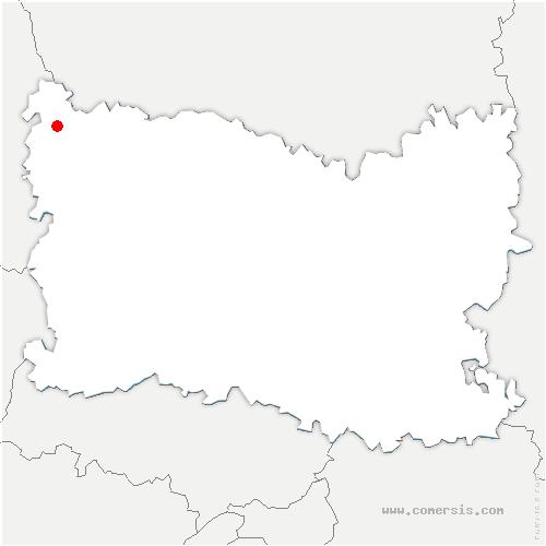carte de localisation de Blargies