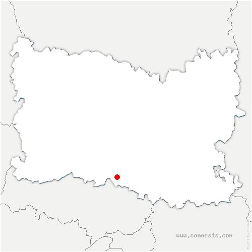 carte de localisation de Boran-sur-Oise