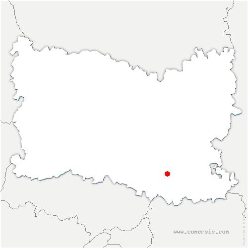 carte de localisation de Borest