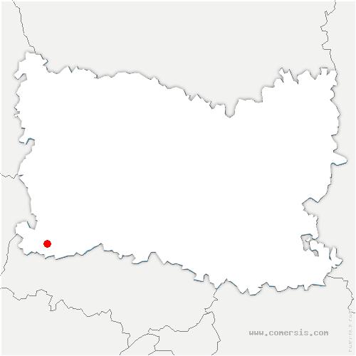 carte de localisation de Boubiers