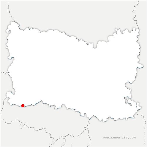 carte de localisation de Bouconvillers