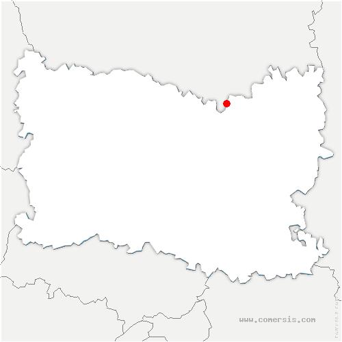 carte de localisation de Boulogne-la-Grasse