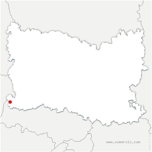 carte de localisation de Boury-en-Vexin