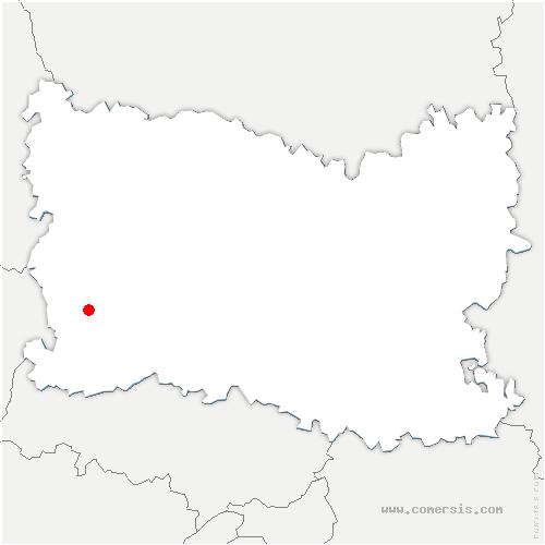 carte de localisation de Boutencourt