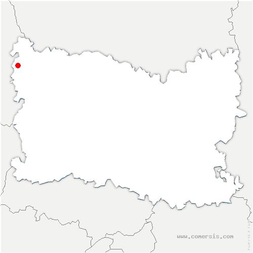 carte de localisation de Bouvresse