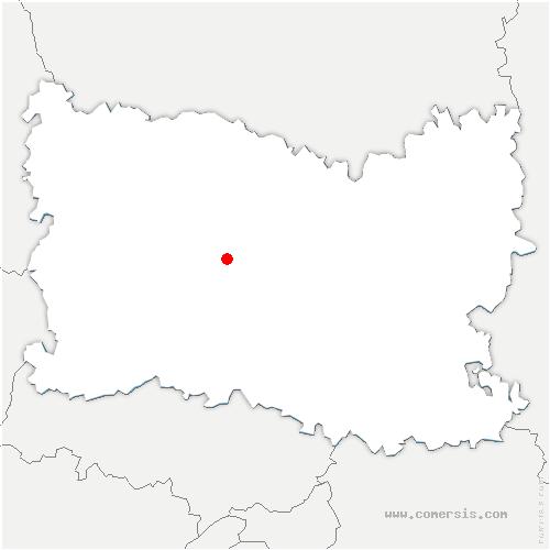 carte de localisation de Bresles