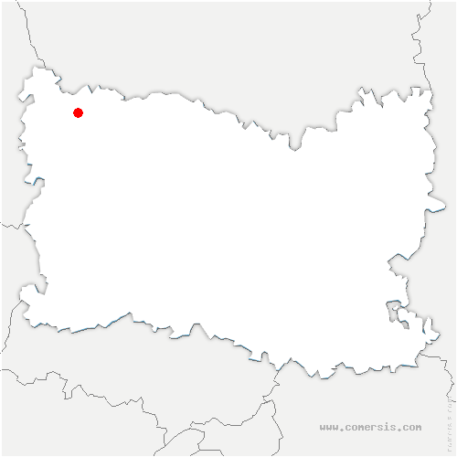 carte de localisation de Briot