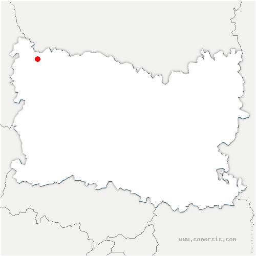 carte de localisation de Broquiers