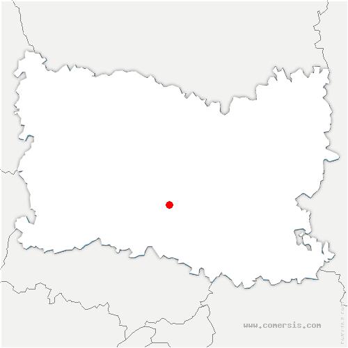 carte de localisation de Bury