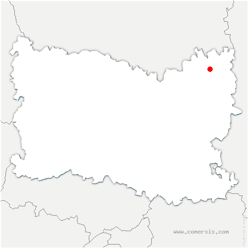 carte de localisation de Bussy