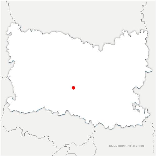 carte de localisation de Cambronne-lès-Clermont