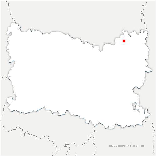 carte de localisation de Candor