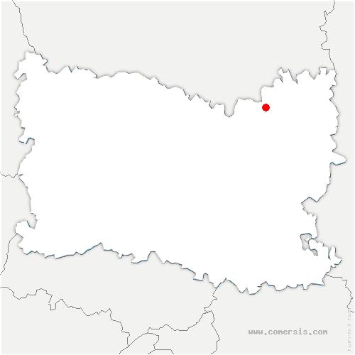 carte de localisation de Canny-sur-Matz