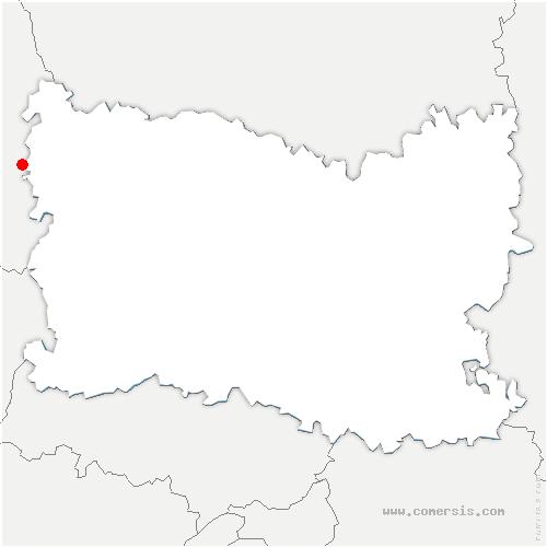 carte de localisation de Canny-sur-Thérain