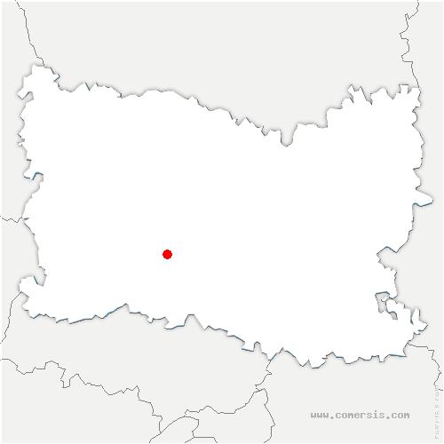 carte de localisation de Cauvigny