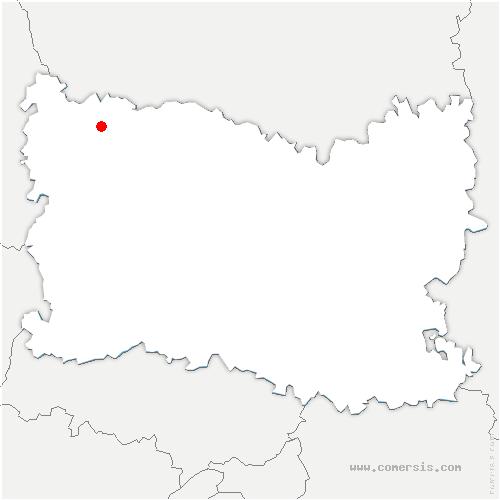 carte de localisation de Cempuis