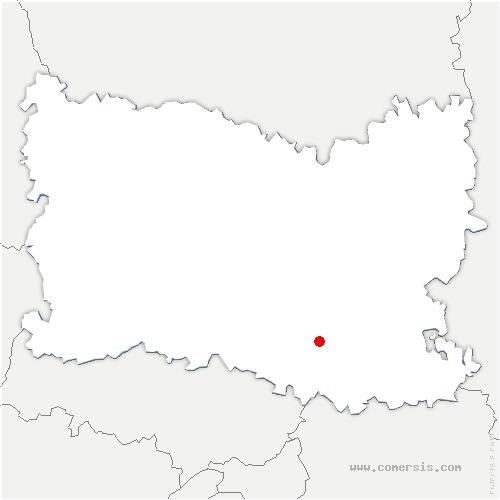 carte de localisation de Chamant