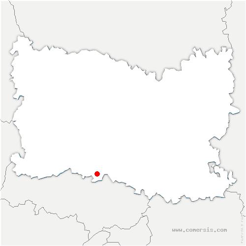 carte de localisation de Chambly