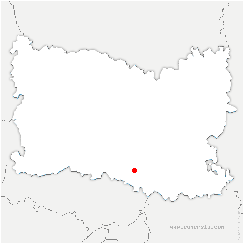 carte de localisation de Chantilly