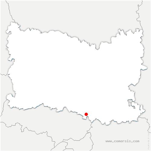 carte de localisation de Chapelle-en-Serval